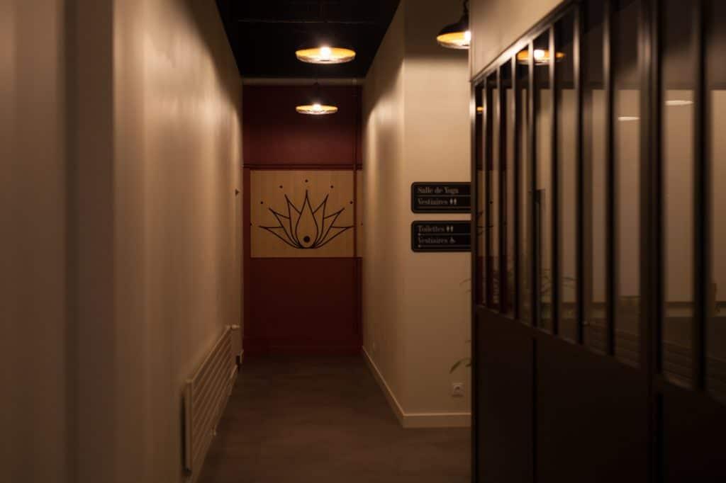 Couloir du studio YOGART à Rouen